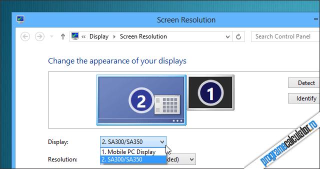 Cum se conecteaza calculatorul la TV - Setari Windows
