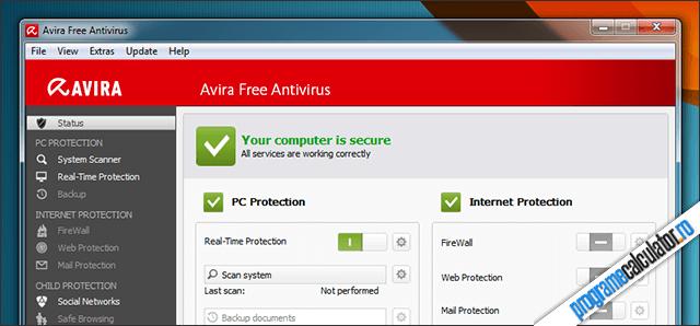 Antivirus gratuit: Avira Free Antivirus