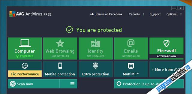 Antivirus gratuit: AVG Free Antivirus