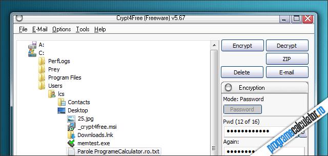 Crypt4Free: criptare fisiere și mesaje