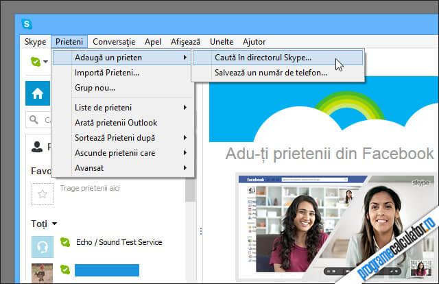 Adauga-ti prietenii in Skype