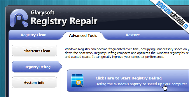 Defragmentarea Windows Registry