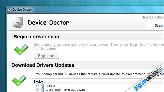 Instalare drivere cu Device Doctor