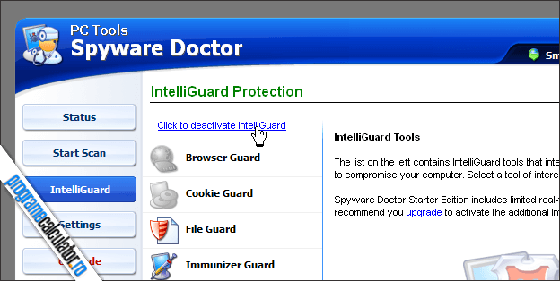 IntelliGuard Protection PC Tools Spyware Doctor