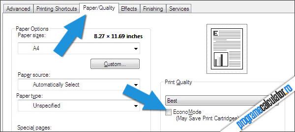 Paper/Quality » Econo-Mode
