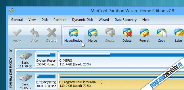 Partition Wizard Home Edition