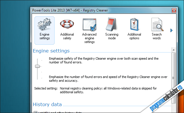 PowerTools Lite - Scanarea Windows Registry