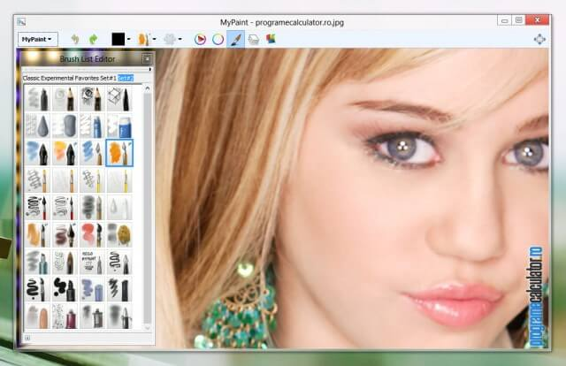 Program de modificat poze: MyPaint