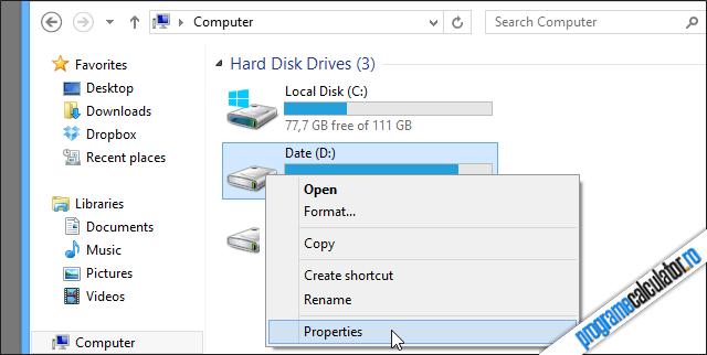 Proprietati Hard Disk