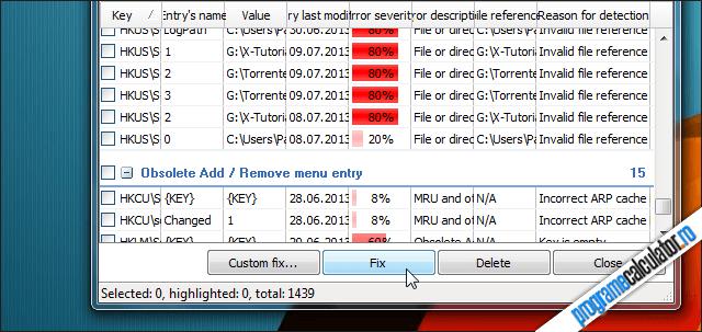 Reparare erori registru cu PowerTools