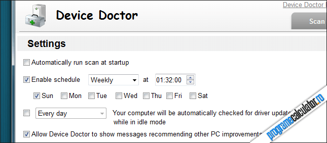 Setari Device Doctor