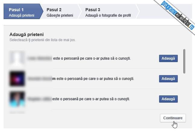 adaugare prieteni in contul de facebook