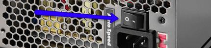 Sursa de alimentare pentru calculator - butonul de pornire