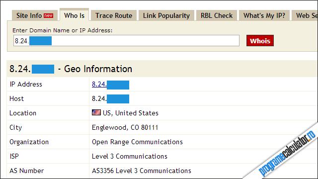 cum poti localiza o adresa IP