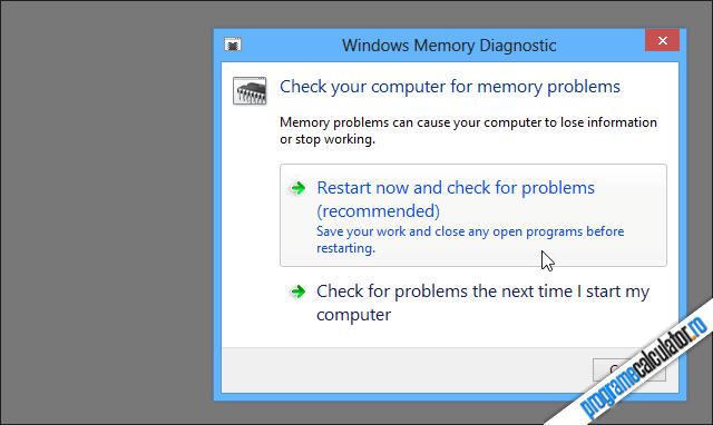 cum se verifica memoria RAM