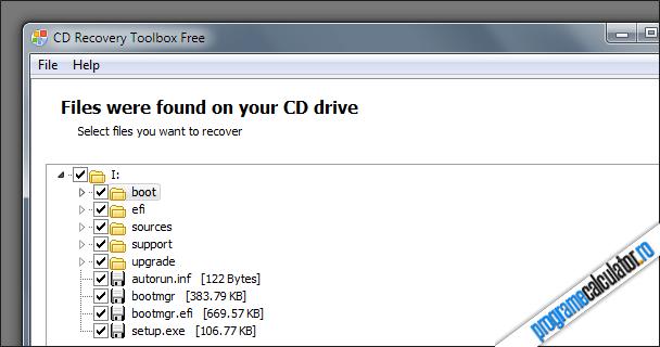 date ce pot fi recuperate de pe CD si DVD