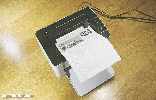 imprimanta conectata si configurata