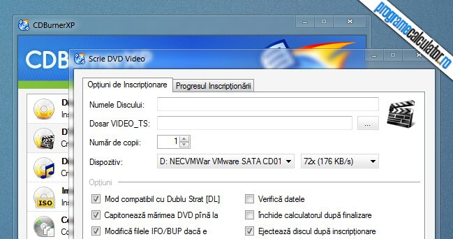 incriptionare cd dvd video-ts