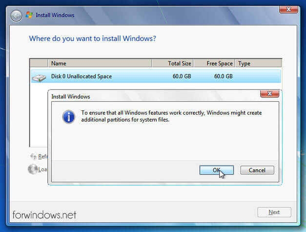Manual de instalare Windows 7 - System Reserved