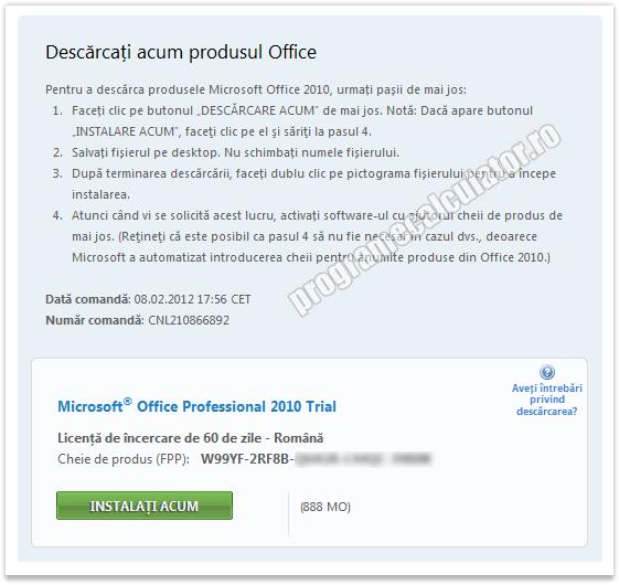 Obtine gratis o licenta pentru Microsoft Office Professional