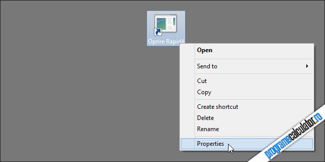 Personalizare shortcut de oprire a calculatorului cu dublu-click
