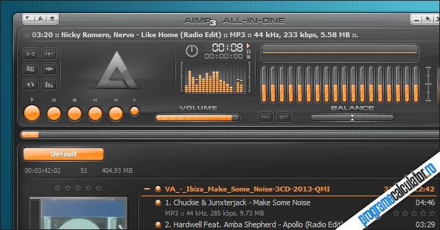 Program de ascultat muzică - AIMP
