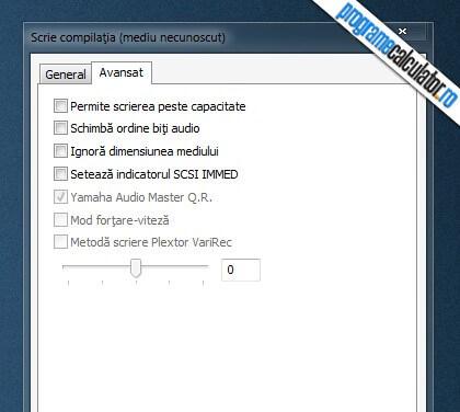 Program de inscriptionat cd-uri si dvd-uri - scrie compilatia - avansat