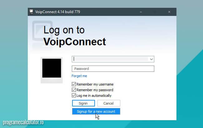 program pentru sunat gratis - creare cont