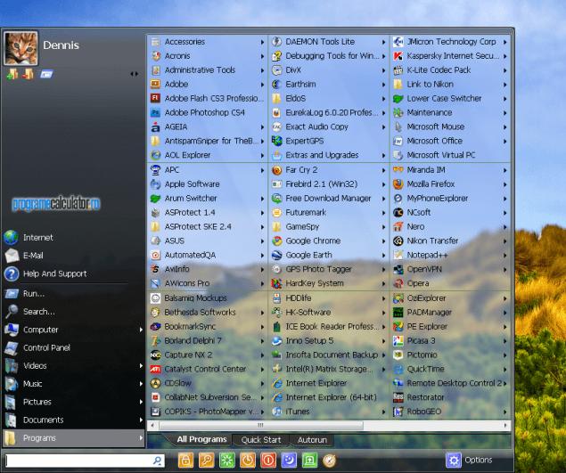 1-Schimba aspectul meniului de start al Windows-ului