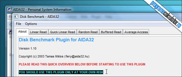 AIDA32 Benchmark