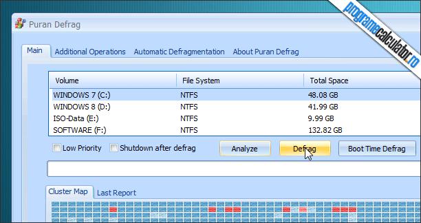 Defragmentarea Hardului (Hard Disk-ului) cu Puran Defrag