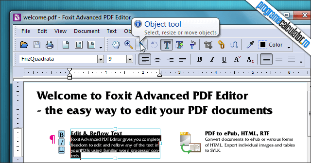 Program de modificat documente PDF