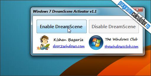 cum se activeaza dreamscene in Windows 7