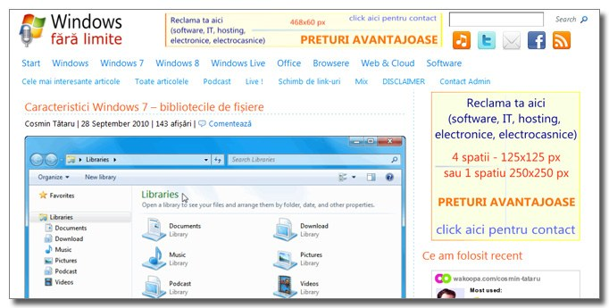 Windows fara limite