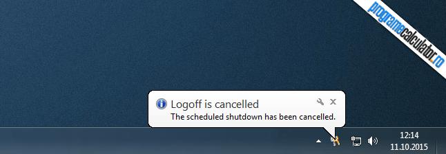 oprirea programata a fost anulata