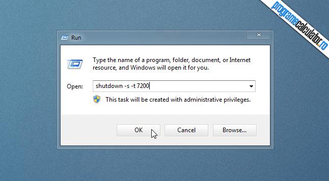 programarea opririi calculatorului fara programe