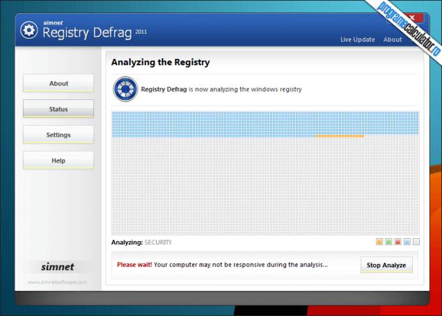 1-Defragmentarea registrului - Simnet Registry Defrag