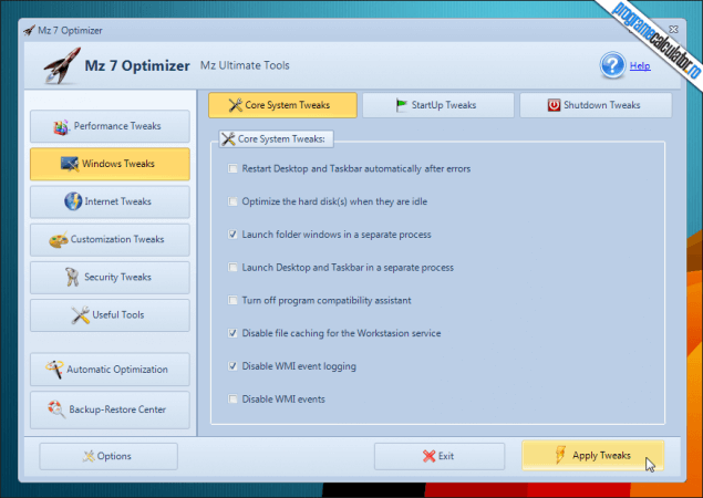 1-Optimizare Windows 7 - Mz 7 Optimizer