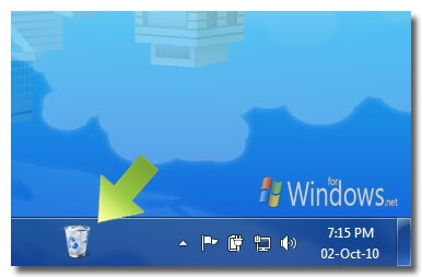 Recycle Bin in Taskbar
