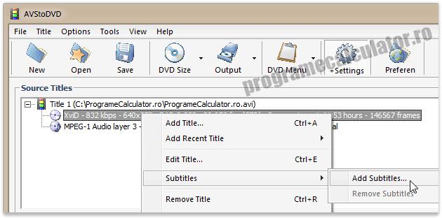 cum se face un DVD / CD cu subtitrare