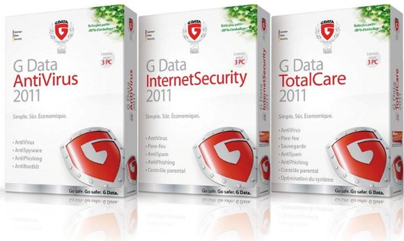 G Data Antivirus 2011, G Data InternetSecurity 2011, G Data TotalCare 2011
