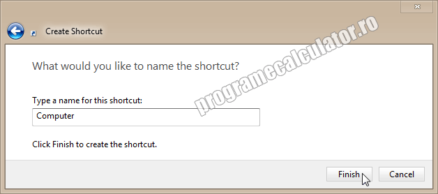 Type a name for this shortcut