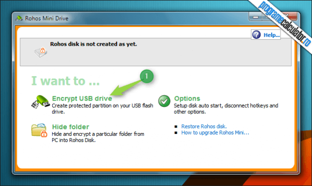 1-Cum se pune parola unei memorii USB