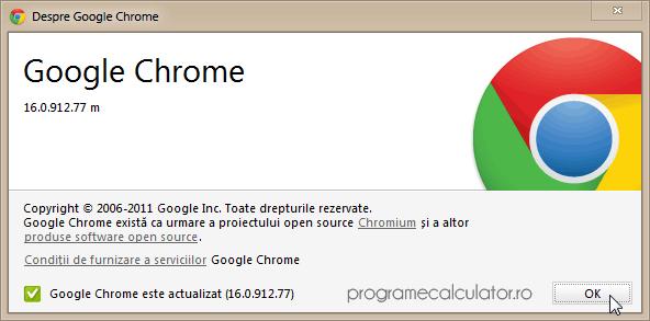 Actualizare Google Chrome