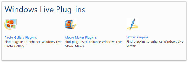 Windows Live Plug-ins