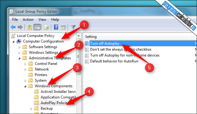 2-Dezactiveaza AutoPlay - AutoRun in Windows 7