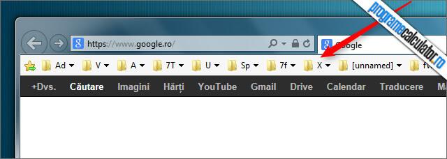 Favoritele in Internet Explorer