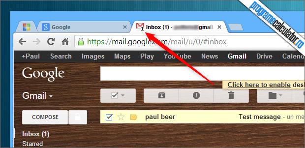 numarul mesajelor din gmail