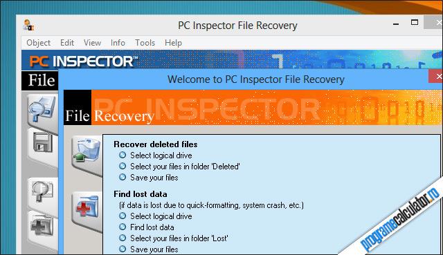Program de recuperat date șterse - PC Inspector File Recovery