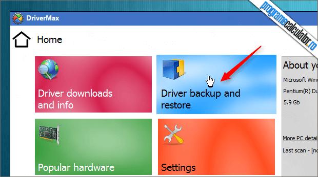 Backup drivere cu DriverMax